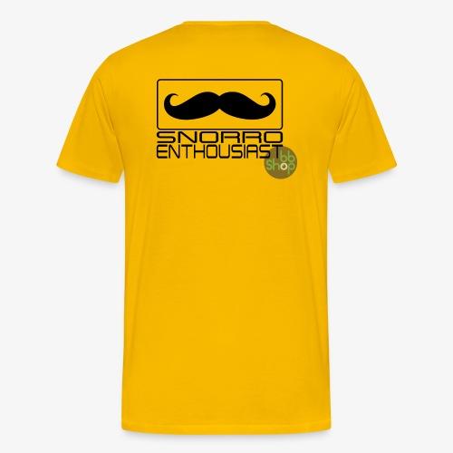 Snorro enthusiastic (black) - Men's Premium T-Shirt