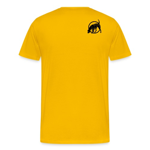 Mantrailing Aufkleber sw png - Männer Premium T-Shirt