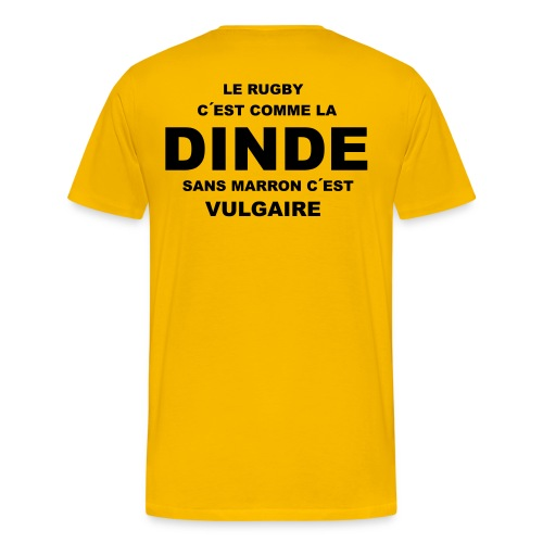 rugby_dinde - T-shirt Premium Homme