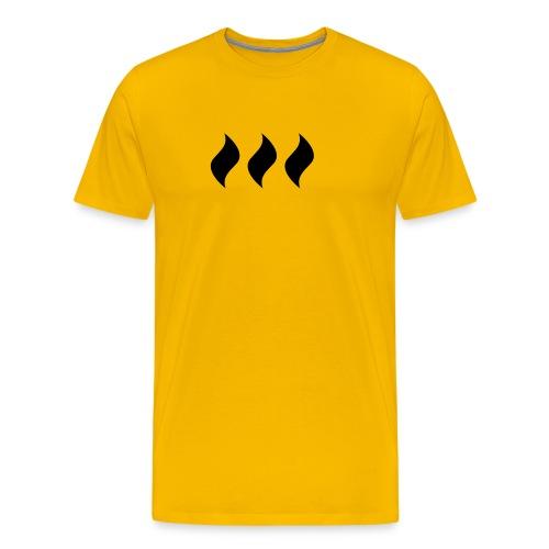 logo flames - Männer Premium T-Shirt