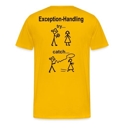 Try-Catch-Java-Code - Männer Premium T-Shirt