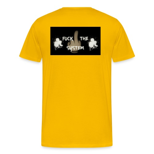 Fuck The System - Männer Premium T-Shirt