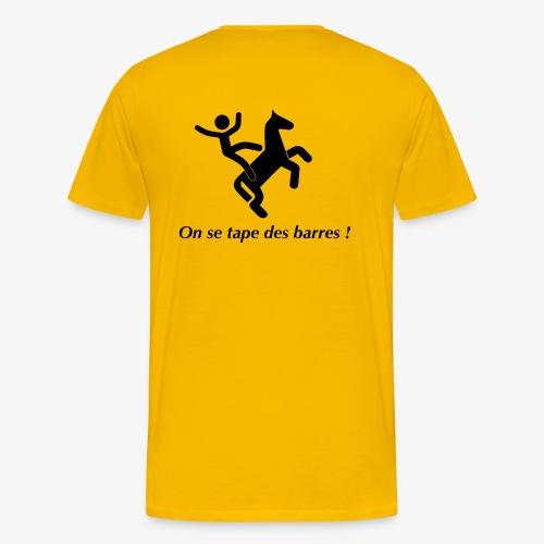 On se tape des barres! Noir - T-shirt Premium Homme