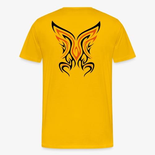Backside Tribal zweifarbig - Männer Premium T-Shirt