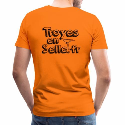 logo Troyes en Selle noir - T-shirt Premium Homme