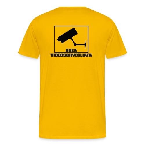 Area Videosorvegliata - Maglietta Premium da uomo