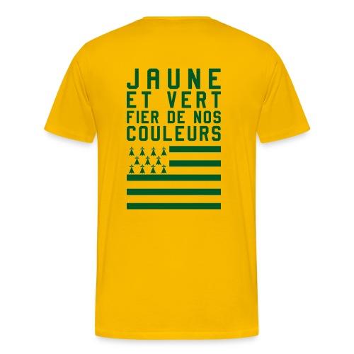 Jaune et Vert Fier de nos couleurs png - T-shirt Premium Homme