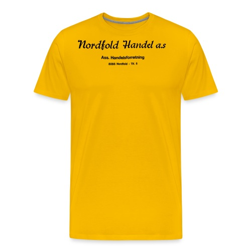 NH Logo horisontal - Premium T-skjorte for menn