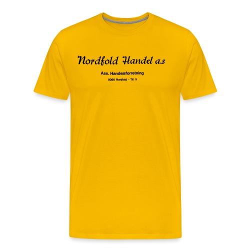 NH Logo horisontal - Premium T-skjorte for menn