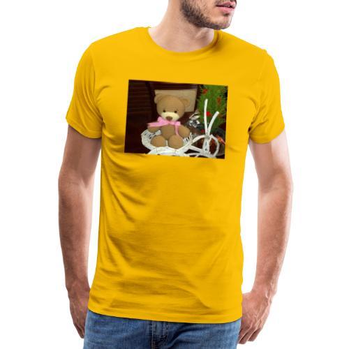 Oso amigurumi de crochet hecho a mano,suave - Camiseta premium hombre