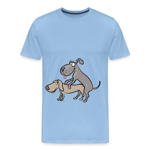 Un couple de chiens en train de faire l'amour - T-shirt Premium Homme