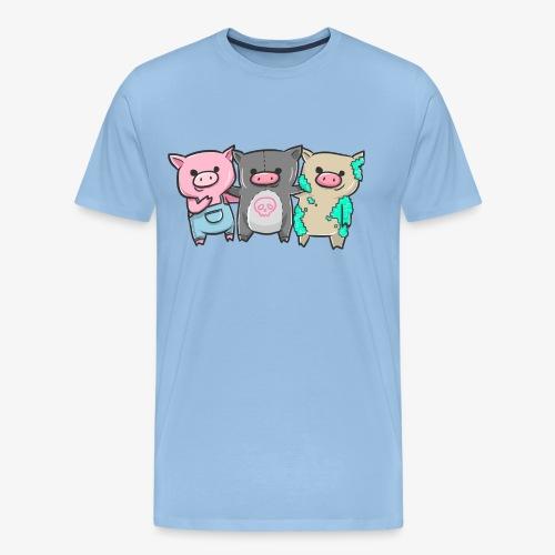 Drei kleine Schweinchen I Geschenkidee - Männer Premium T-Shirt