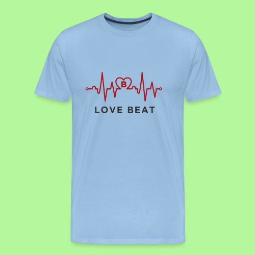 Heart rate monitor Electrocardiography Pulse - Men's Premium T-Shirt