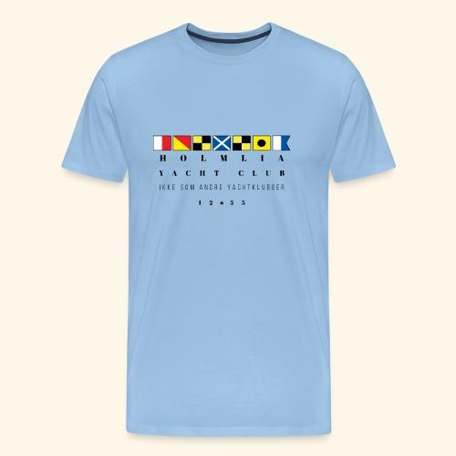 HYC - overhodet ikke som andre yachtklubber - Premium T-skjorte for menn