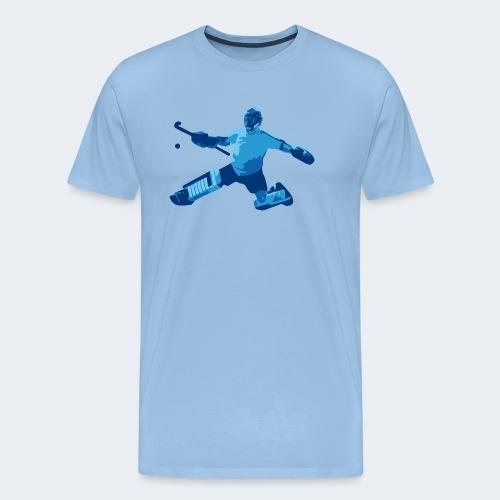 Feldhockey-Torwart Blau - Männer Premium T-Shirt