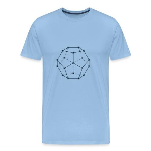 Dodecaedro, Geometria Sacra - Maglietta Premium da uomo