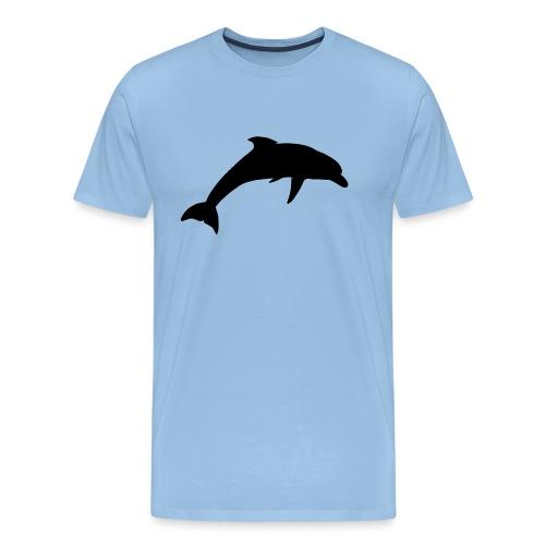 dolphin silhouette - Men's Premium T-Shirt