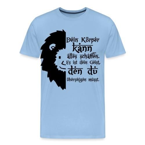 Motivations Löwe - Löwenkopf - Süßer Löwe - Männer Premium T-Shirt