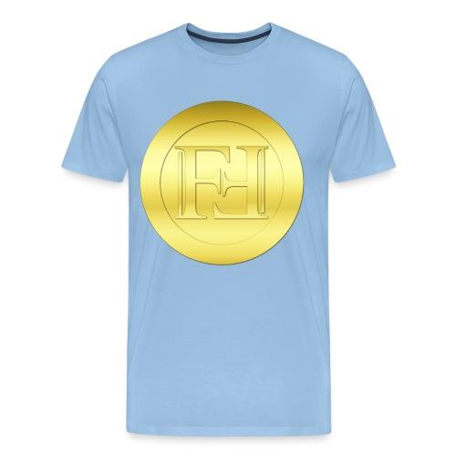 New Gold Freicoin Circle - Männer Premium T-Shirt