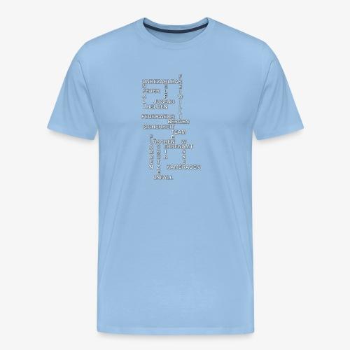 Feuerwehr Wörtersammlung - Männer Premium T-Shirt