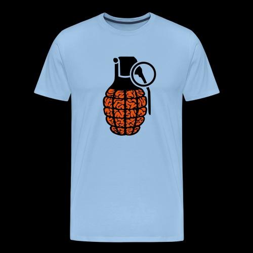 brainGrenade - Männer Premium T-Shirt