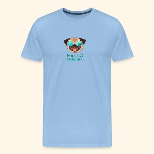 Summer Pug - Men's Premium T-Shirt