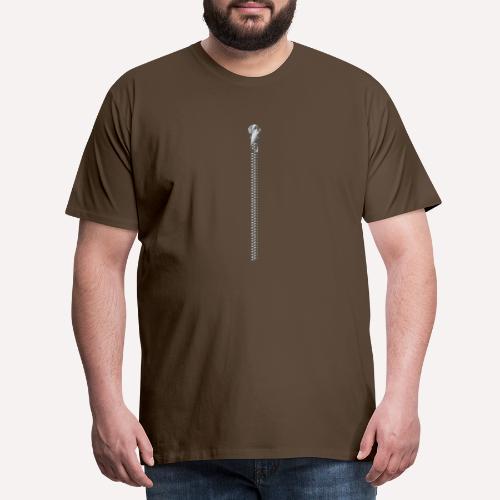 Zipper Funny Surprising T-shirt, Hoodie,Cap Print - Men's Premium T-Shirt