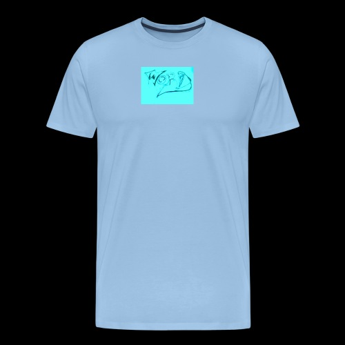 WORD blue - Men's Premium T-Shirt