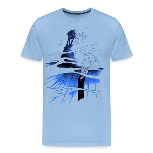 Ein Ort (blau) - Männer Premium T-Shirt