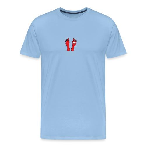 Swiss Barefooter Logo - hinten mit Schrift - Männer Premium T-Shirt