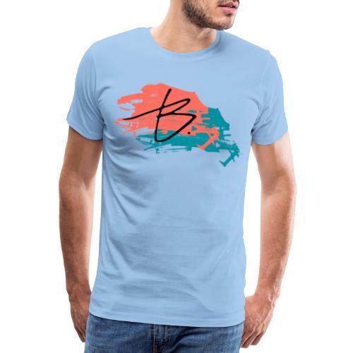 B - Miesten premium t-paita