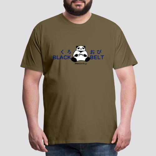 Black Belt Panda - Mannen Premium T-shirt