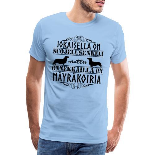 Mäyräkoira PK LK Enkelit - Miesten premium t-paita