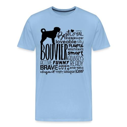 Bouvier Words Black - Men's Premium T-Shirt