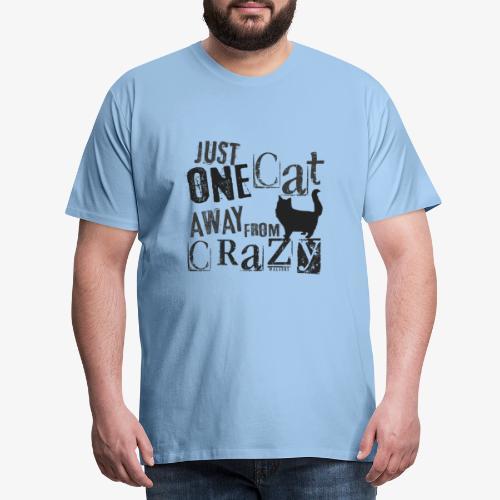 One Cat Away IV - Miesten premium t-paita