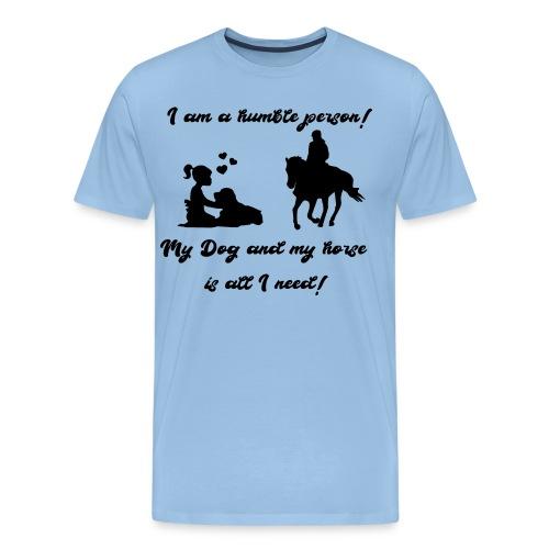 Pferd und Hund T-Shirt Reitbegleiter - Männer Premium T-Shirt