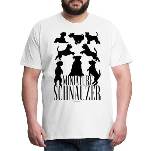 Miniature Schnauzer Black - Miesten premium t-paita