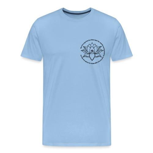 Lotusbluete mit Mantra - Männer Premium T-Shirt