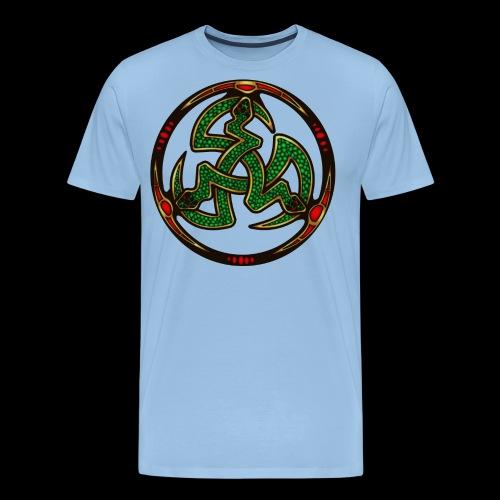 Serpent Triskellion - Men's Premium T-Shirt