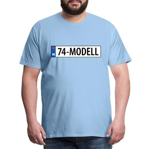 74-modell kjennemerke - Premium T-skjorte for menn