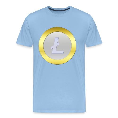 Litecoin Logo 3D Silver C - Männer Premium T-Shirt