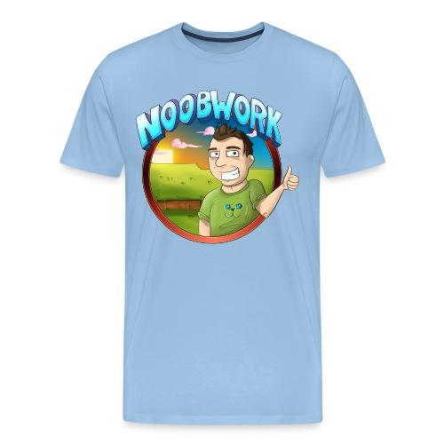 Noobwork Sunset - Premium T-skjorte for menn