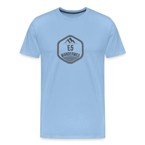 Wanderweg E5 Logo - Männer Premium T-Shirt