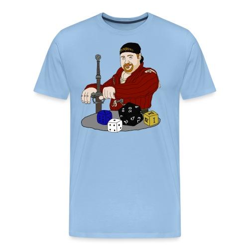 Falke mit Würfel png - Männer Premium T-Shirt