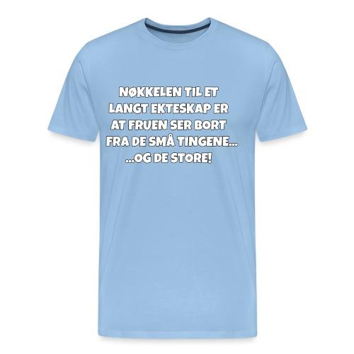 Ekteskap - Premium T-skjorte for menn