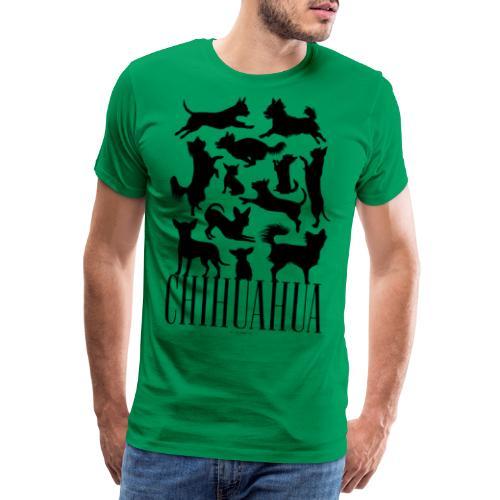 Chihuahua Black - Miesten premium t-paita