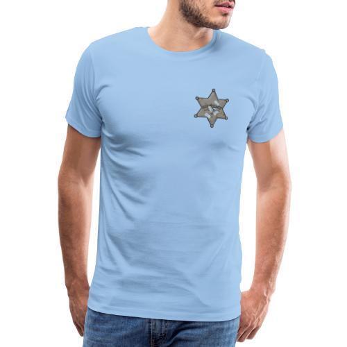 Rusty Sheriff's Badge - Men's Premium T-Shirt