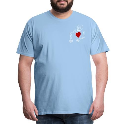 skeleton boi, good heart - Men's Premium T-Shirt