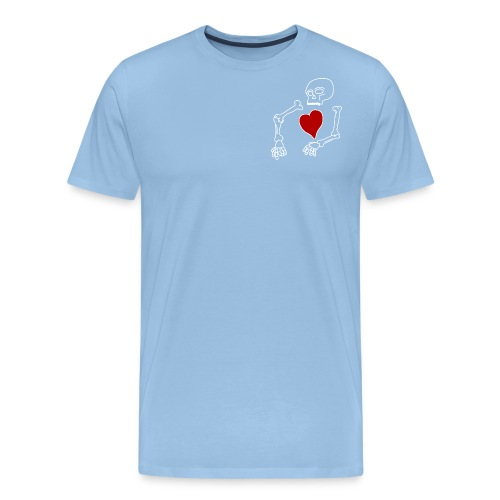 skeleton boi, good heart - Men's Premium T-Shirt