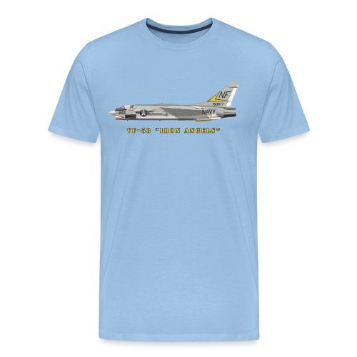 F-8J Crusader VF-53 Iron Angels - T-shirt Premium Homme